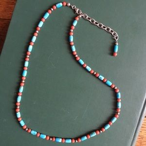 Jewelry - Sterling silver, turquoise and coral necklace